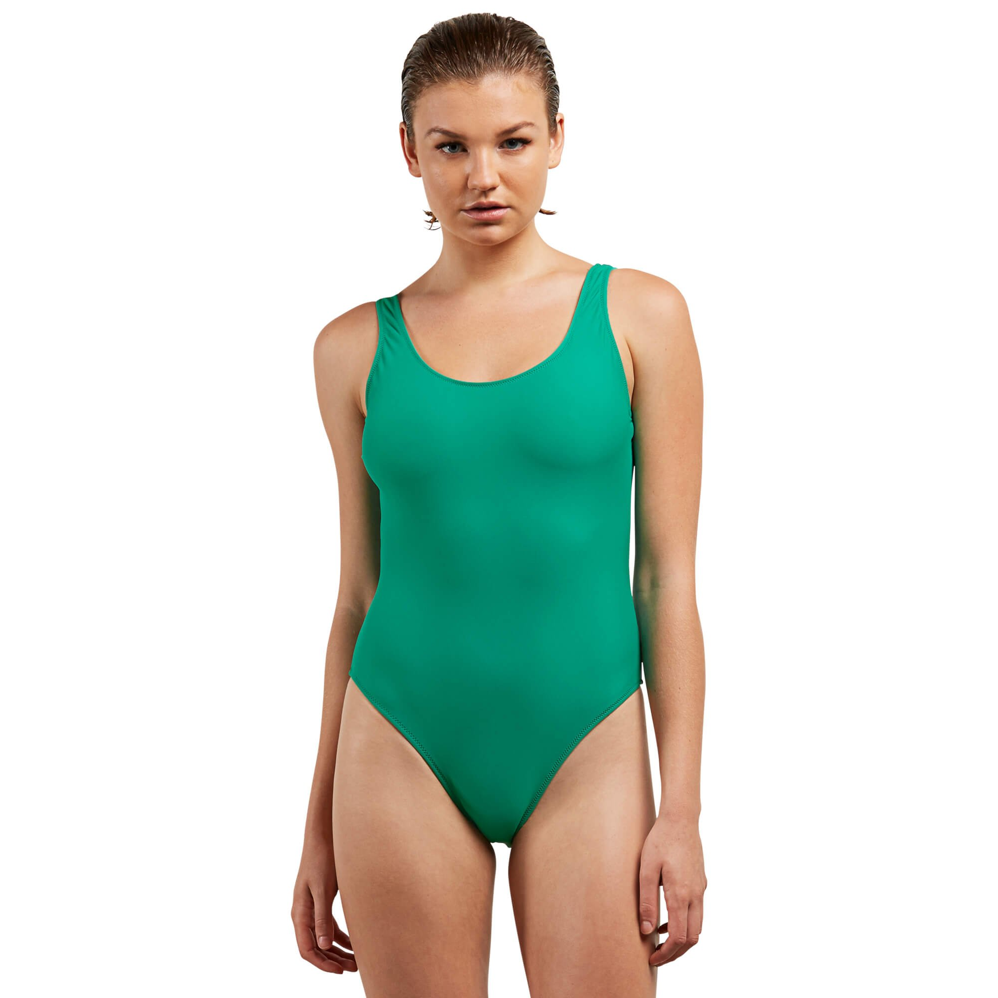 e55415b9c1 Galleon - Volcom Women's Junior's Simply Solid One Piece Swimsuit, Green  Spray, Extra Extra Large