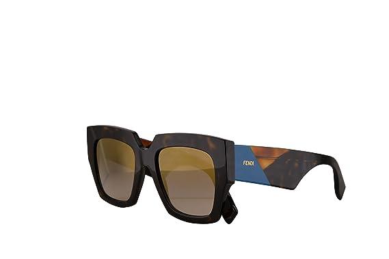 e2f2e7aeed Fendi FF0263 S Sunglasses Dark Havana w Gold Grey Gradient Mirror Lens 52mm  086FQ FF0263S FF 0263S FF 0263 S  Amazon.co.uk  Clothing