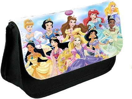 Tienda £ Save Princesas Disney estuche o bolsa de maquillaje, color negro: Amazon.es: Oficina y papelería