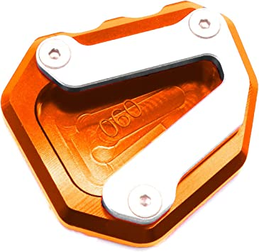 Orange Easygo Replacement For KTM 790 DUKE 2018-2019 Motorcycle Kickstand Side Stand Pad Extension Plate