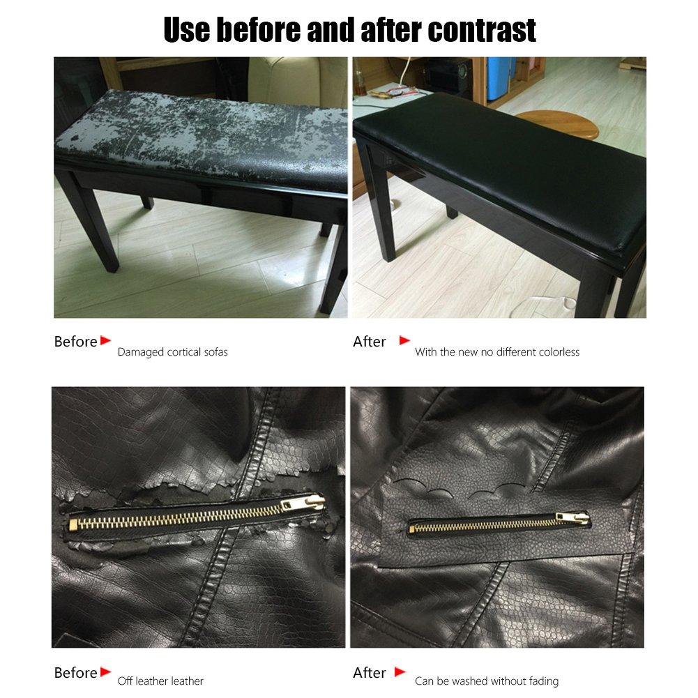 Amazon.com: 6 parches adhesivos para reparación de cuero, de ...