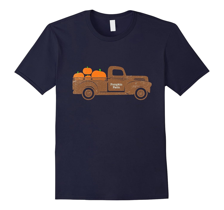 Pumpkin Truck Vintage Fall T Shirt-T-Shirt