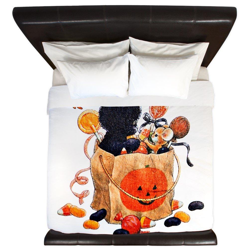 King Duvet Cover Halloween Kitten Candy Pumpkin