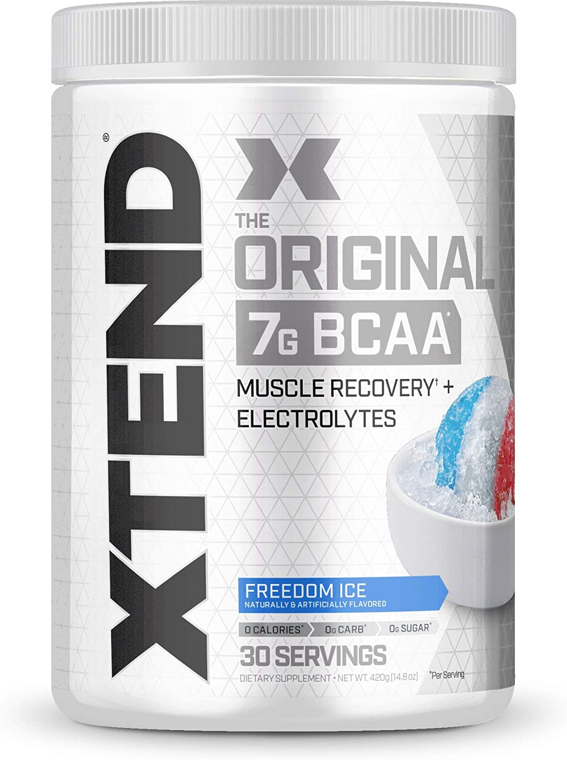 Xtend Original Bcaa Powder Freedom Ice Sugar Free Post Workout Muscle Recovery Drink with Amino Acids 7g bcaas for Men Women 30 Servings