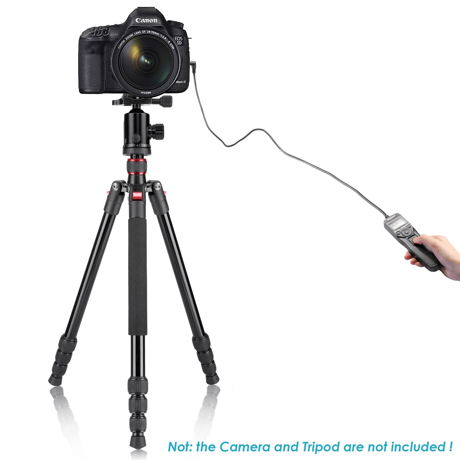 Neewer LCD Timer Shutter Release Remote Control for Canon 700D/T5i, 650D/T4i, 550D/T2i, 500D/T1i, 350D/XT, 400D/XTi, 1000D/XS, 450D/XSi, 60D, 100D, and Pentax by Neewer (Image #2)