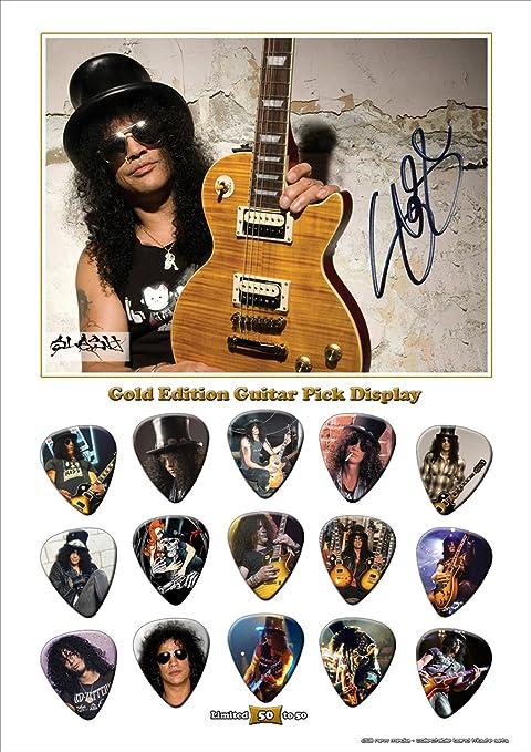 Printed púas Company Slash New Gold Edition de púa de guitarra con ...