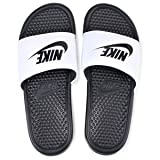 Nike Men's Benassi Just Do It Athletic Sandal, White, 8 D(M) US