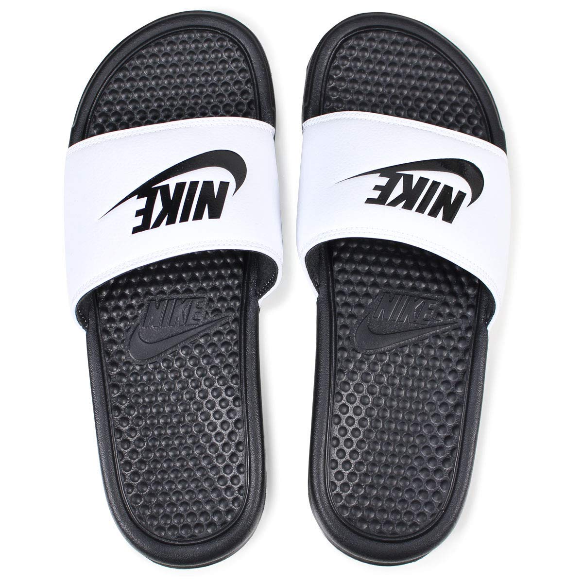 b8e47b1c911250 Nike Benassi JDI Mens Sandals White Black 343880-100  Buy Online at Low  Prices in India - Amazon.in
