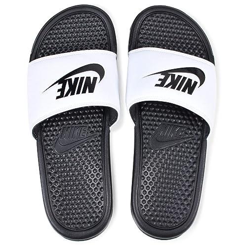 more photos bf666 226d0 Nike BENASSI JDI, Ciabatte Uomo, Bianco (White/Black 100), 49.5 EU ...