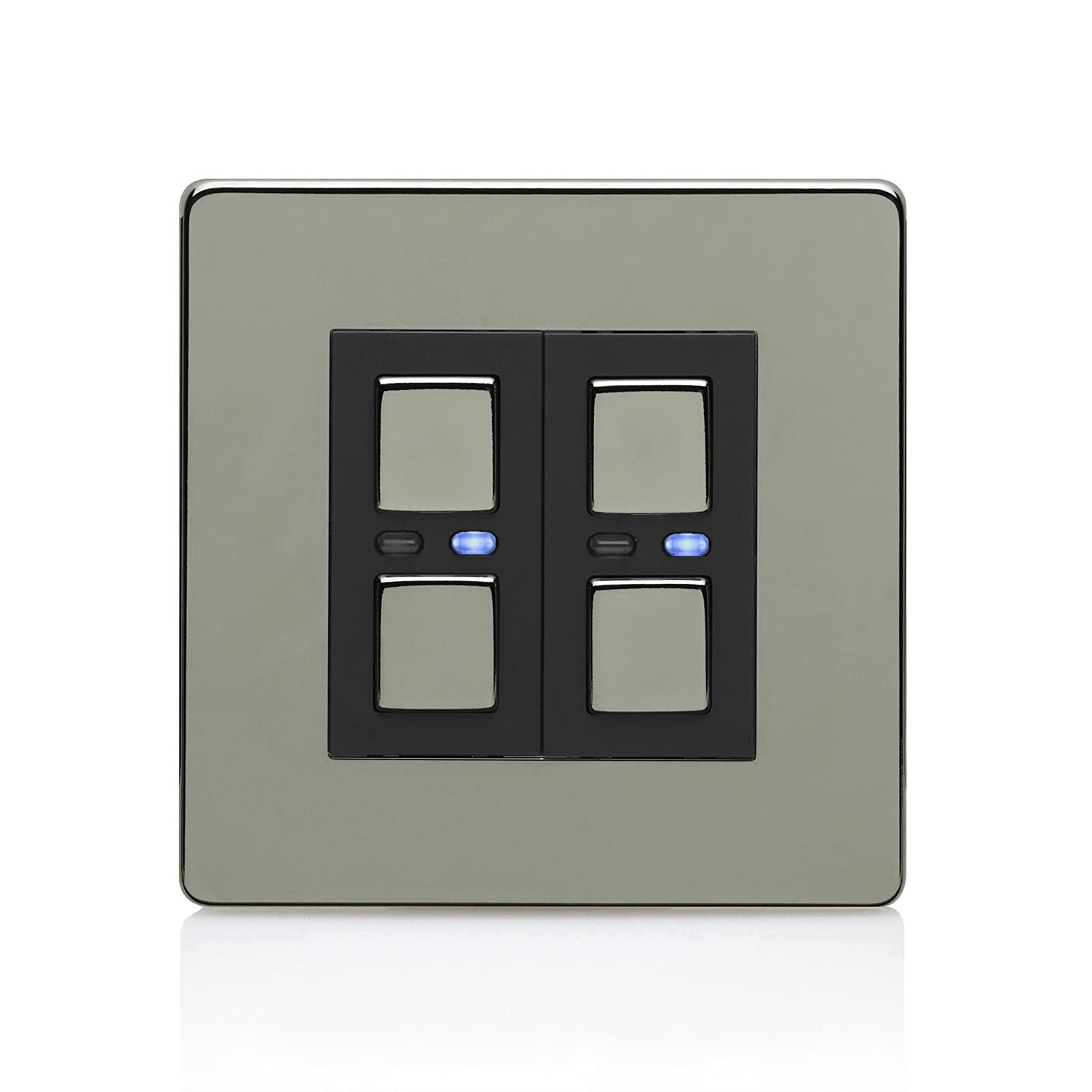Lightwave 2 Gang Master Light Dimmer Switch Stainless Steel Common Mistakes Wiring A 3 Way Lightwaverf Diy Tools