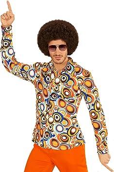 NET TOYS Camiseta Años 70 - L/XL (ES 52/54) | Camisa Colorida para Hombres | Top Hippy Años 60 | Accesorio Disfraz Los Setenta: Amazon.es: Juguetes y juegos