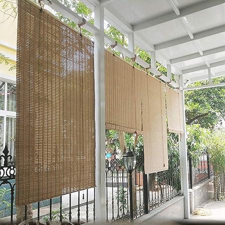 LLCC Persianas japonesas, persianas de bambú con Ventanas y ...