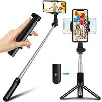 Selfie Stick Tripod with Bluetooth Remote, TEUMI Lightweight Monopod Mini Pocket Tripod for Cell Phone, Travel Tripod…