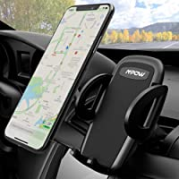 Car Phone Holder, Mpow Air Vent Phone Mount Adjustable With One Button Release and 360° Rotation Cars Mount for iPhone X/10/XS 8 7/7 Plus 6/6s Plus 5S LG Sony HTC Huawei P20 and Others