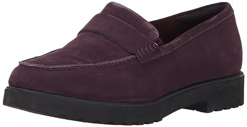 Womens Bellevue Hazen Mocassins, Purple, 5 UK Clarks