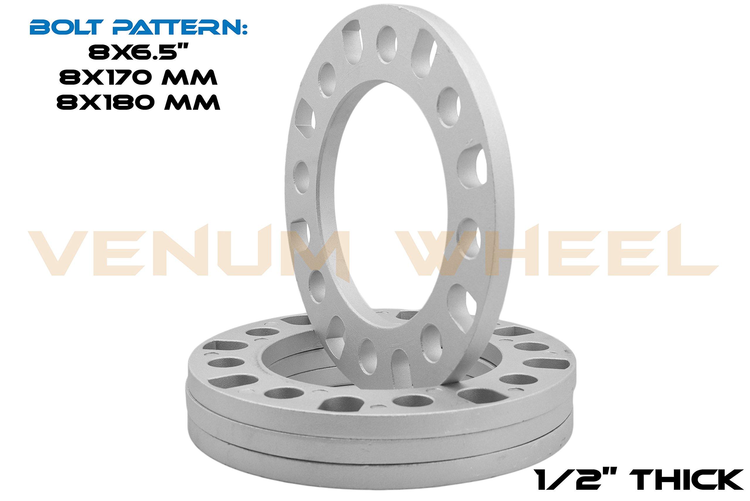 GDSMOTU 1//4 8 Lug Wheel Spacers 8x6.5 8x170 for Chevrolet Silverado 2500 3500 2016 4PC