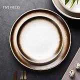 Set Porcelain Plate,Dinner Plate,Set Dessert Plate,Ceramic Dinner Set Dinner Plate Ø15 Cm + 20 Cm + 25 Cm,5 Pieces,White…