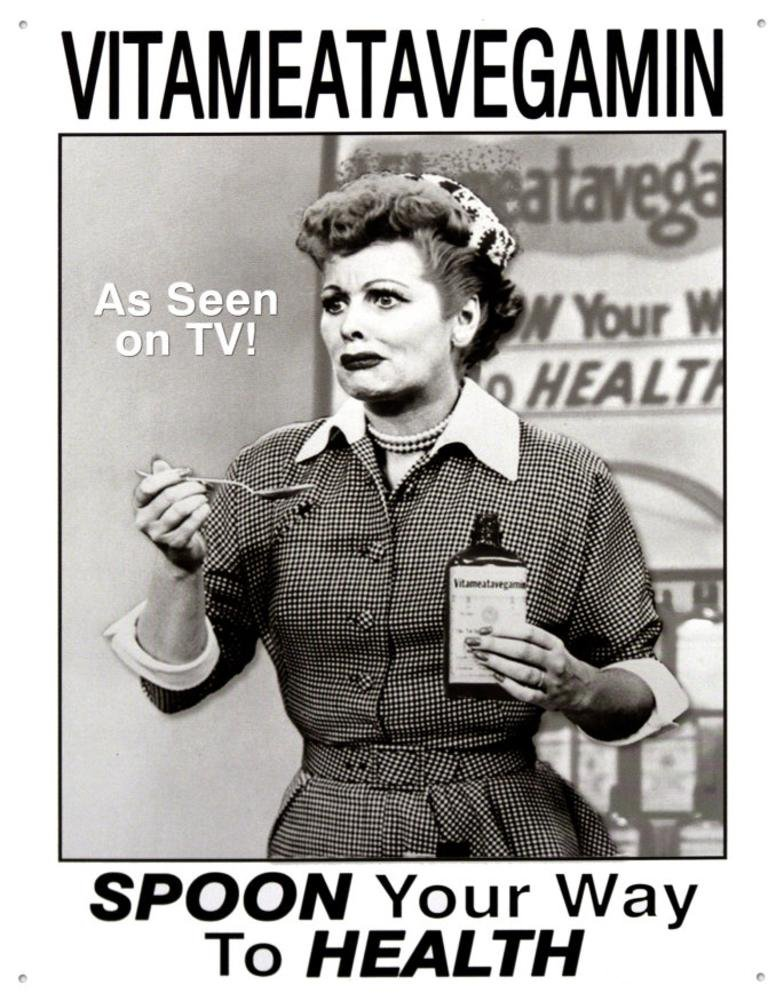 I Love Lucy Vitameatavegamin Tin Sign 13 x 16in
