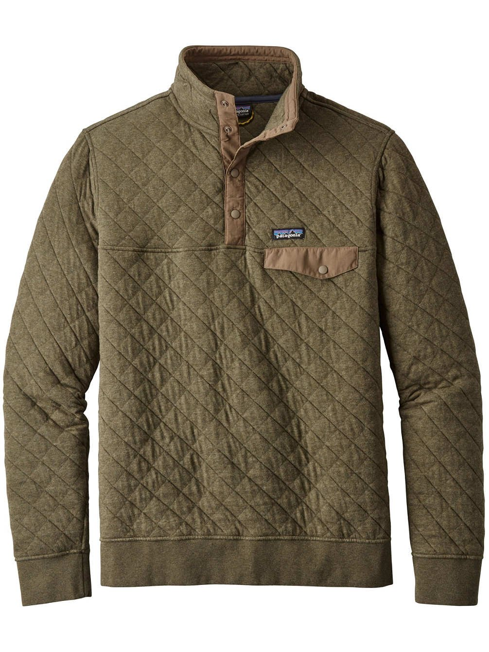 Patagonia Men's Cotton Quilt Snap-T Pullover - Industrial Green - Small