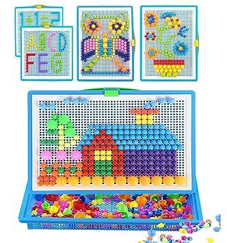 a3f44dd42c90f ITODA 295pcs Mosaique Creative Puzzle Jouet Bloc de magnétique Jouet  Educatif Créatif DIY Jeu de Construction