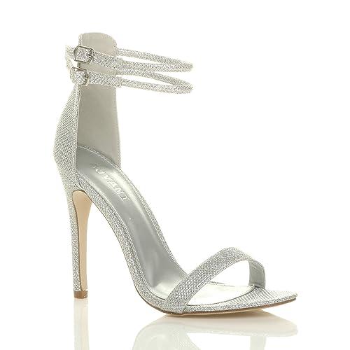 Sandali argentati per donna Ajvani bpZSAzs