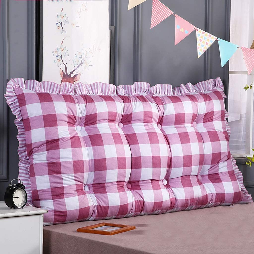 ベッドサイドソフトケースラージピロー、ベッドスツールポジショニングスタンドベッド上の読書用枕、洗えるコットンのツインピロー、3色、4サイズ(色:C、サイズ:180 * 50 cm)