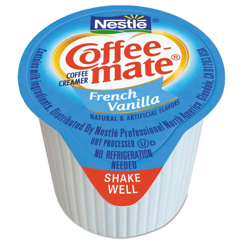 Coffee-mate 35070 Liquid Coffee Creamer, Mini Cups, French Vanilla, 180/Box