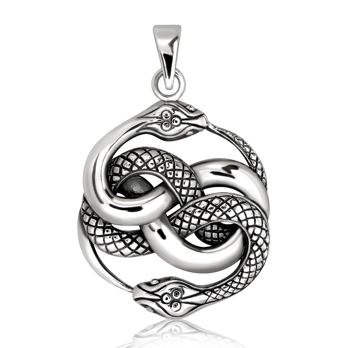 Sistakno Argent sterling 925  Viking Ouroboros Twisted Queue de serpent Eat Symbole D'infini Eternity Nature Cré ation de pendentif 740812519832