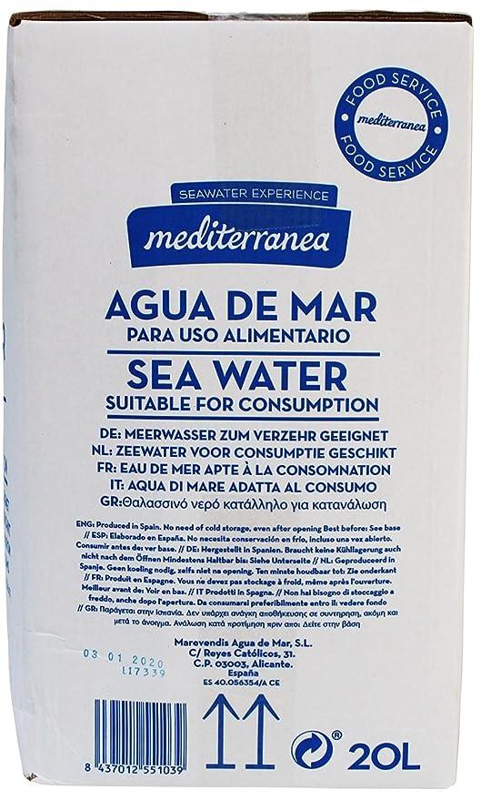 Mediterranea Agua de Mar Alimentaria en Envase de 20 Litros: Amazon.es: Salud y cuidado personal