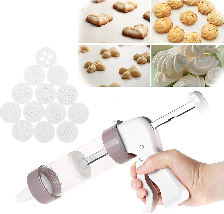 Biscuit Pump Set 8 Nozzles Decoration Patern Press Biscuit Decoration Patern