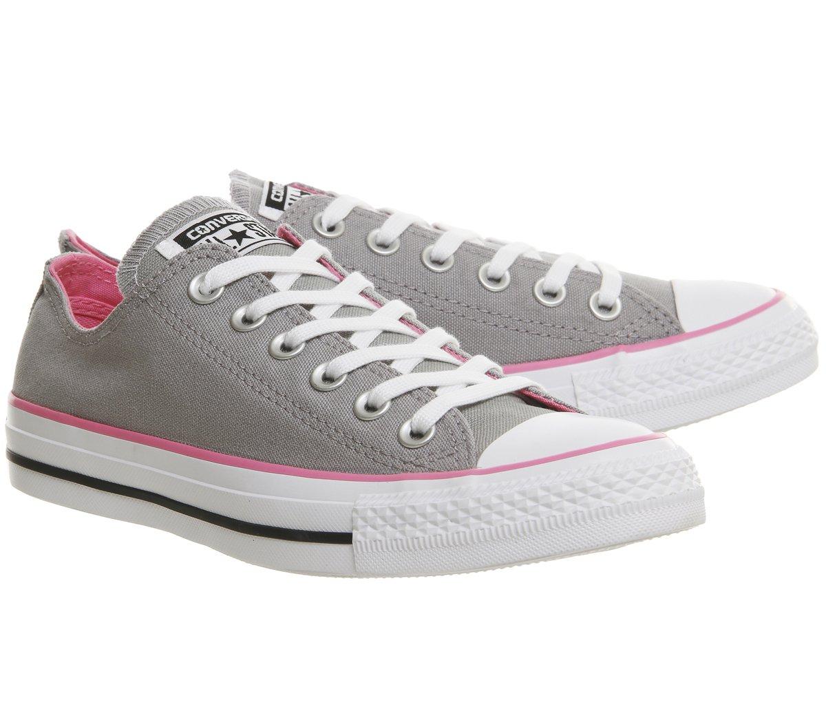 Converse OX Damen Schuh Chuck Taylor OX Converse Schlangenhautmuster Silber/weiß Grau/Rosa 1e5bac