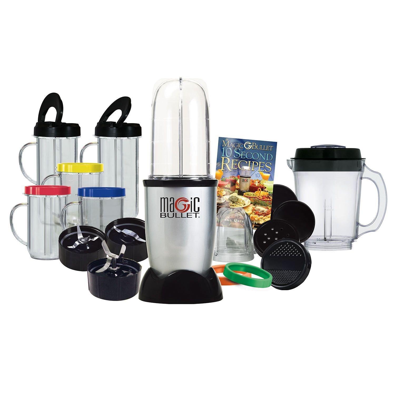 Amazon.com: Magic Bullet Deluxe 25 pc Set Blender Mixer [21 pc set with a 4  pc bonus]: Electric Countertop Blenders: Kitchen & Dining