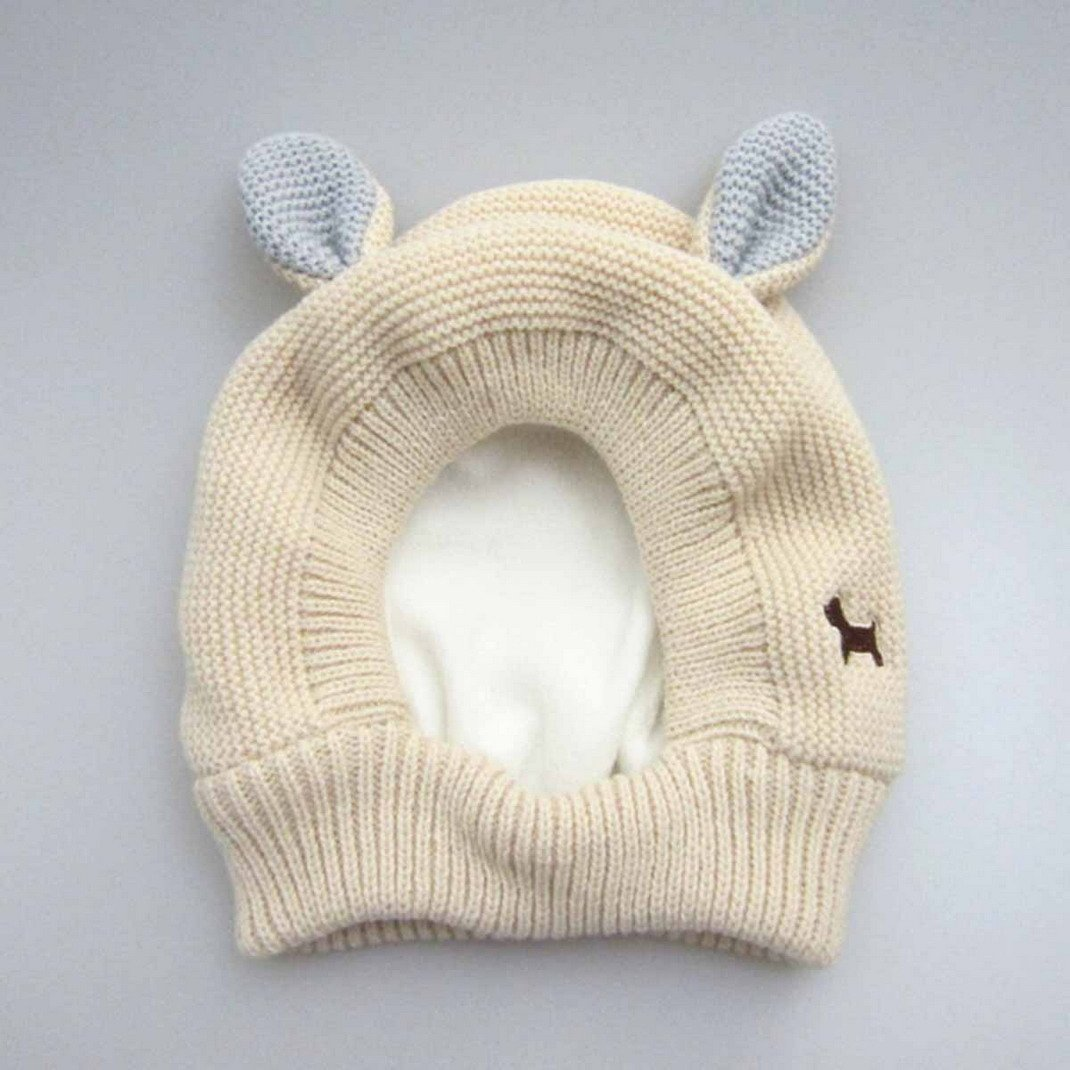 eb43a6fc7453 Amazon.com  Aivtalk Baby Girls Rabbit Pattern Cap Winter Soft Woolen ...