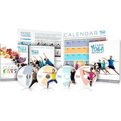 3 Week Yoga Retreat Workout Program DVDs