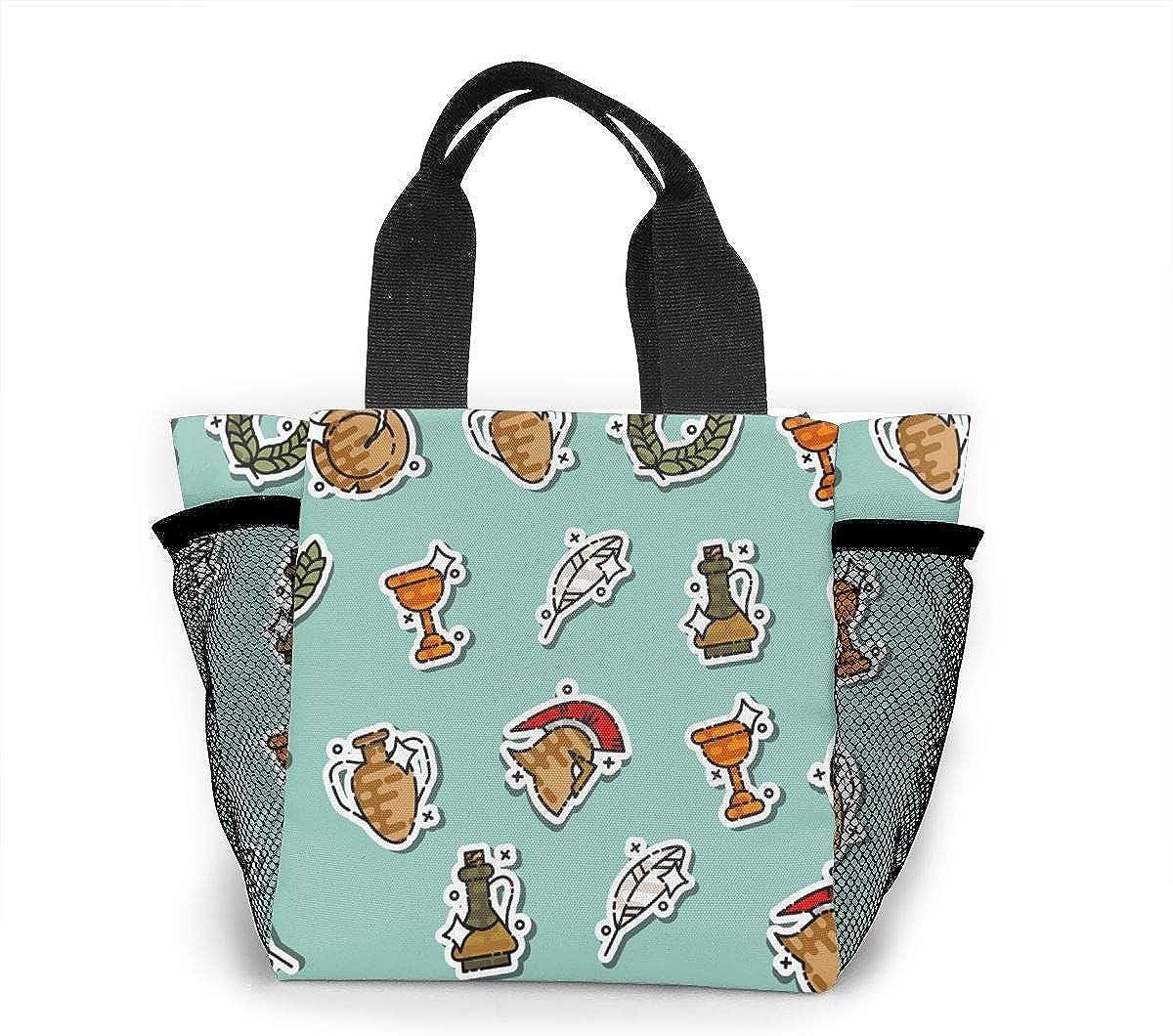Bolso de compras reutilizable de color de la antigua Roma bolsa de supermercado de poliéster Ripstop o bolsa de almuerzo
