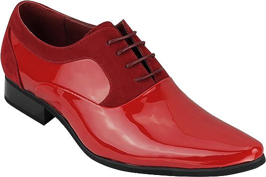 TALLA 40 EU. Hombres Negro Azul De Imitación De Cuero Tejido Casual Deslizamiento Mocasines Mocasines En Los Zapatos De Conducción