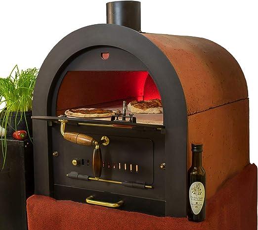 Valoriani - Horno de piedra, horno de leña, horno para pizza con cocción indirecta: Amazon.es: Jardín