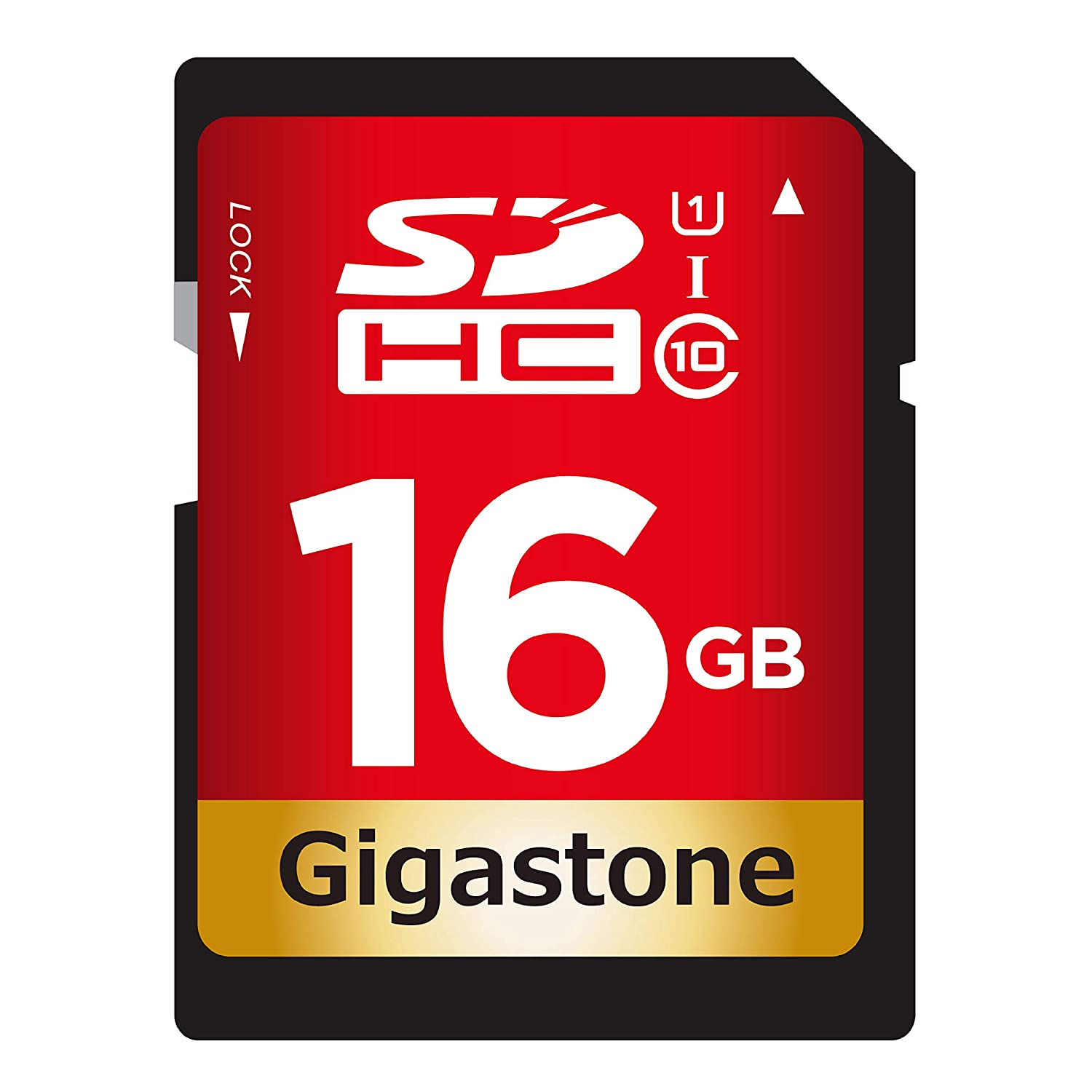 Gigastone 16GB SD Card UHS-I U1 Class 10 SDHC Memory Card High-Speed Full HD Video Canon Nikon Sony Pentax Kodak Olympus Panasonic Digital Camera
