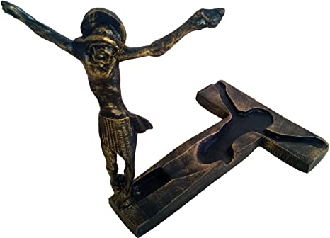 Amazon Com Statue Medjugorje Standing Cross Crucifix Risen Jesus Christ Christian Catholic Medjugorje 3 5 Inches Home Kitchen