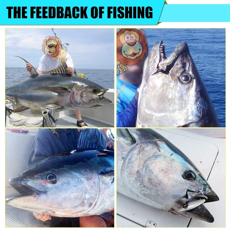 YZD Leurre de p/êche pour la p/êche /à la tra/îne en Eau de mer Minnow Hard Bait Leurre de crankbait Flottant Topwater pour Thon Kingfish Maquereau Marlin GT Ulua Bait