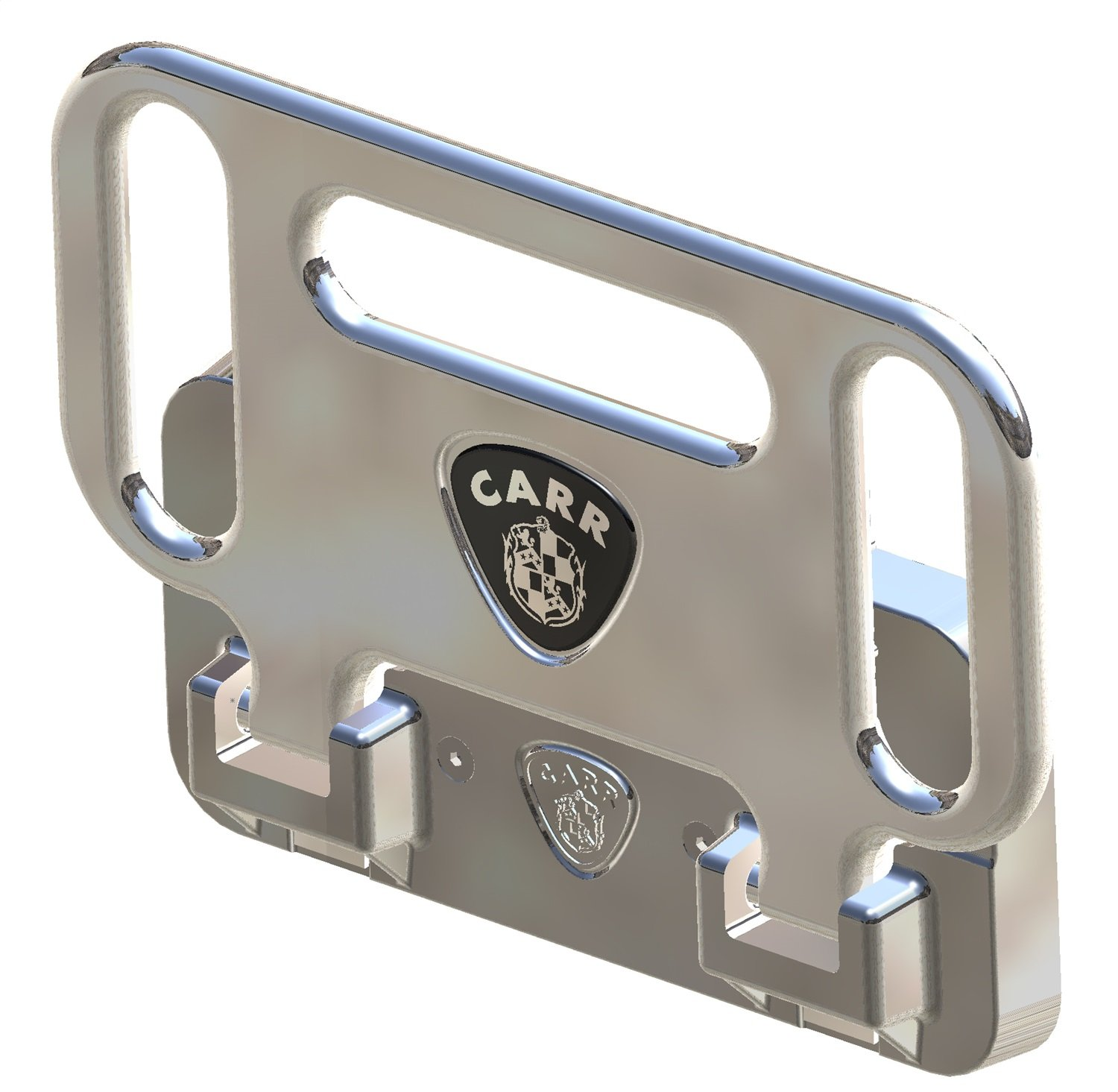Carrs 193012 Hd Mega Polished Hitch Step with Light for 2 and 2-1//2 Receivers