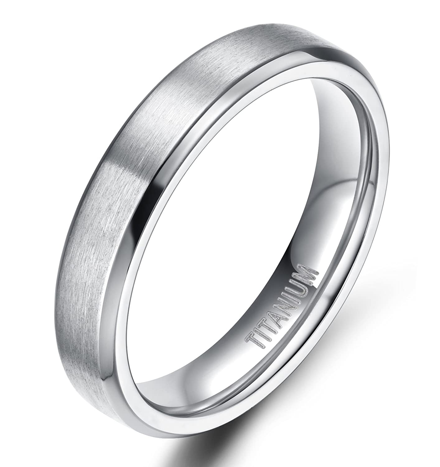 ring women band titanium bands male white top classic gold steel real rings silver product plated men wedding