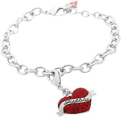 bracelet femme coeur rouge