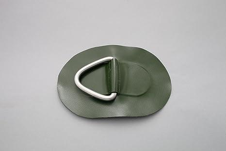Beschlag zum Aufkleben aus Valmex Bengar DR-01 grün D-Ring für Schlauchboote