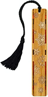 product image for Snow Flakes - Engraved Wooden Bookmark with Tassel