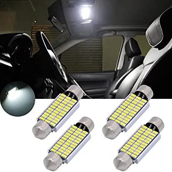 TUINCYN Bombillas LED 18 SMD 3014, 31 mm, chips LED, luz interior del