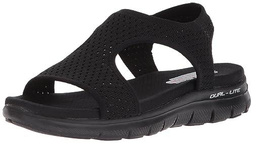 b72fff821366 Image Unavailable. Image not available for. Colour  Skechers Cali Women s  Flex Appeal 2.0-Deja Vu Sport Sandal ...