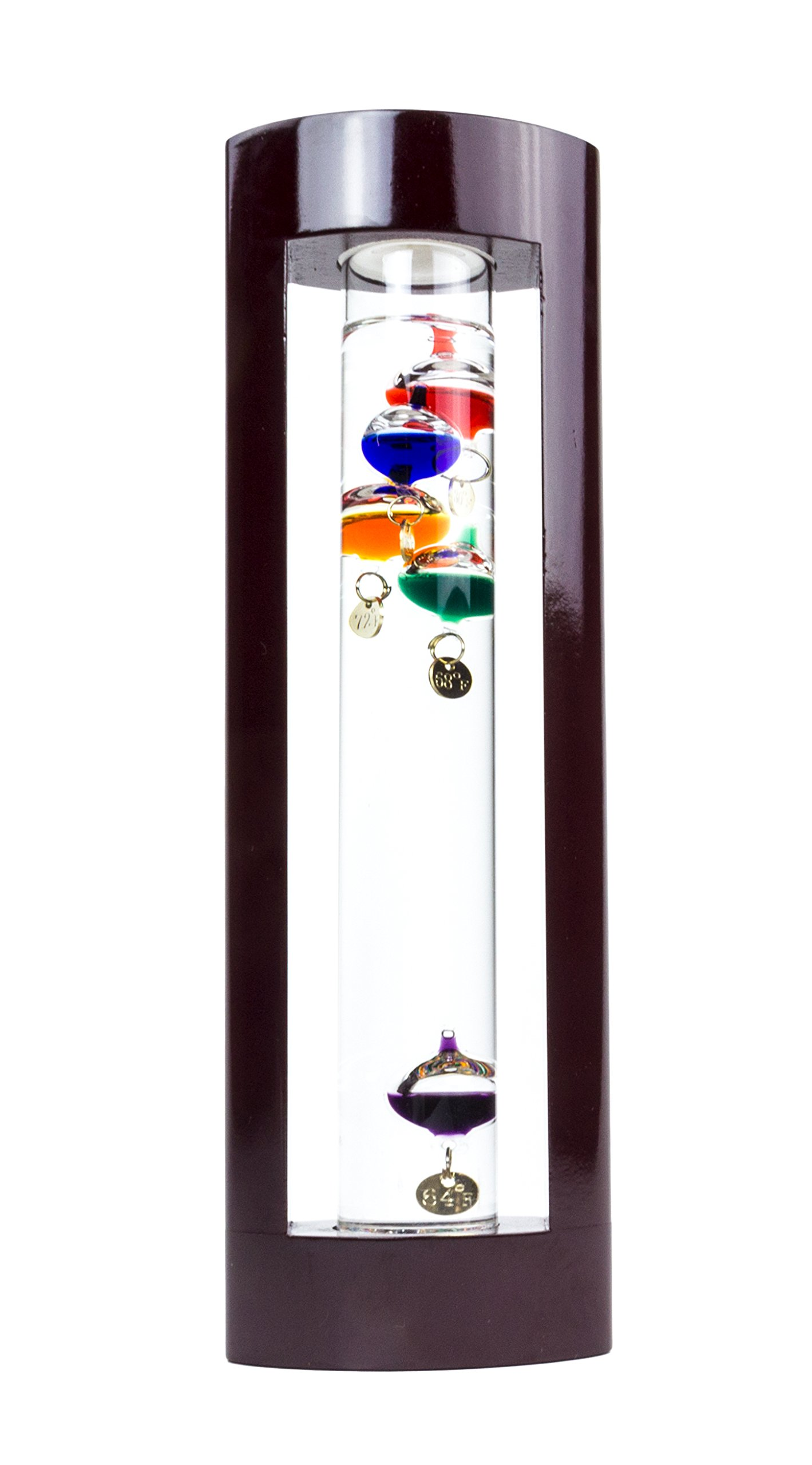 Galileo Thermometer in Cherry Finish Frame - 11''