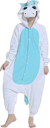 Fandecie Pijama Unicornio Azul, Onesie Modelo Animales ...