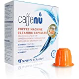 Caff Eenu Compatible Black Cleaning Capsules for Nespresso® * Machine, 15 Kapseln